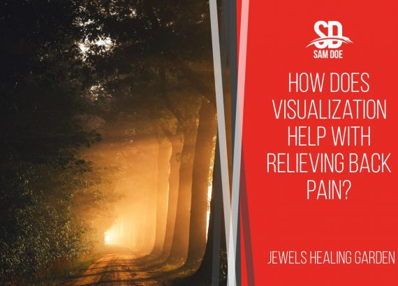 How does visualization help with relieving back pain?