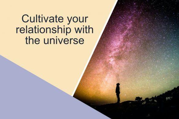 Cultivate your relationship with the universe